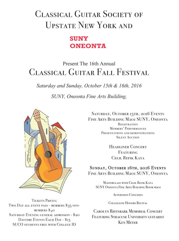 The 16th Annual Classical Guitar Fall Festival 2016
